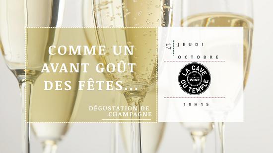 Degustation Champagne octobre